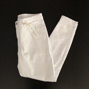 Stitch Fix Just Black White Skinny Jeans NWT Sz 27
